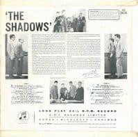 THE SHADOWS The Shadows Vinyl Record LP Columbia 1961.
